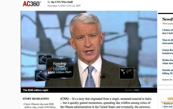 Anderson Cooper Slams Conservatives For Spreading 'Myth