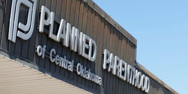 A sign at a Planned Parenthood Clinic is pictured in Oklahoma City, Friday, July 24, 2015. U.S. Sen. James Lankford, R-Okla.,