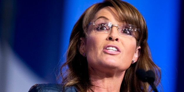 FILE - In this Sept. 26, 2014, file photo, former Alaska Gov. Sarah Palin and vice presidential candidate speaks at the 2014