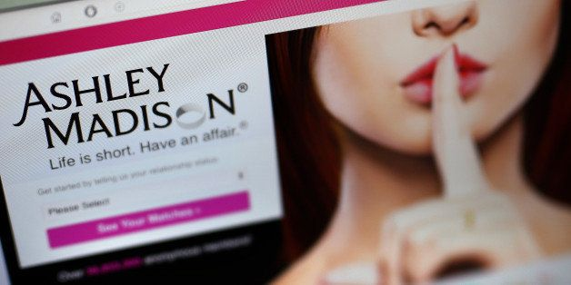LONDON, ENGLAND - AUGUST 19: A detail of the Ashley Madison website on August 19, 2015 in London, England. Hackers who stole