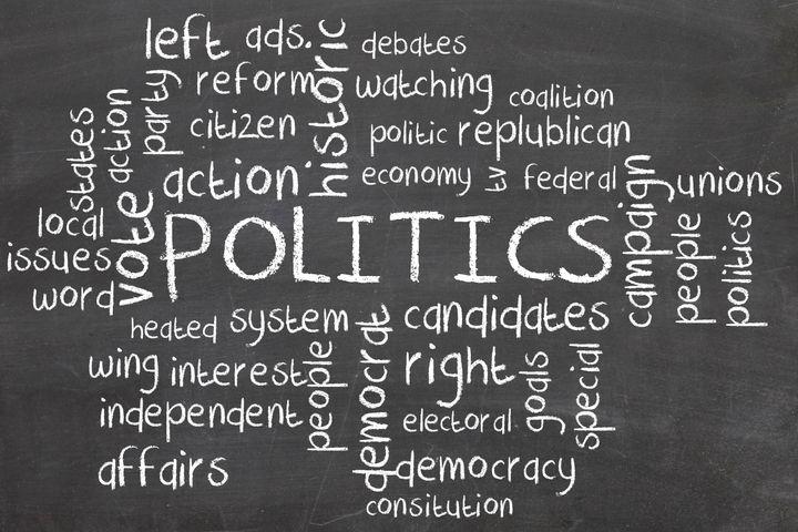 politics word cloud on...