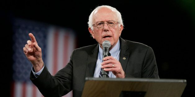 Democratic presidential candidate Sen. Bernie Sanders, I-Vt., speaks during the Iowa Democratic Party's Jefferson-Jackson Din