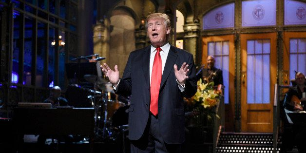 SATURDAY NIGHT LIVE -- 'Donald Trump' Episode 1687 -- Pictured: Donald Trump during the monologue on November 7, 2015 -- (Pho