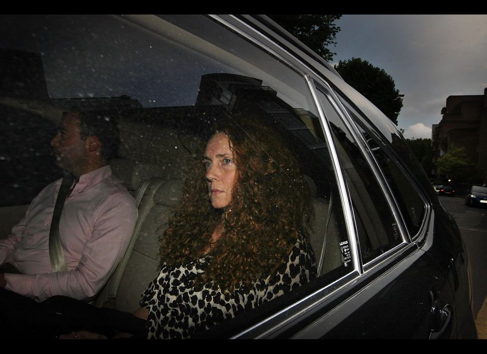 LONDON, ENGLAND - JULY 07:  News International chief executive Rebekah Brooks leaves the office of The News of The World on J
