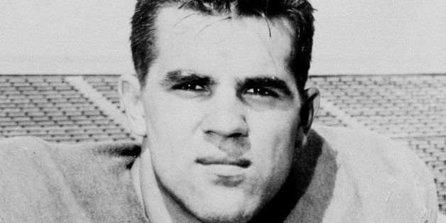 Lou Michaels of the University of Kentucky is pictured in 1956. (AP Photo)