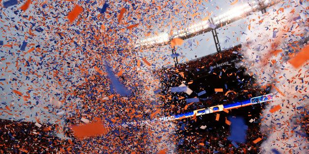 DENVER, CO - JANUARY 24: The Denver Broncos win the AFC championship game against New England Patriots at Sports Authority Fi