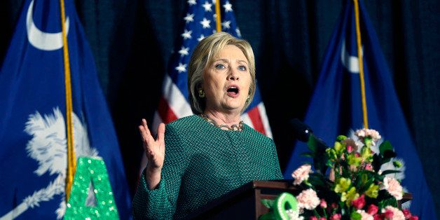 Democratic presidential candidate Hillary Clinton speaks at an Alpha Kappa Alpha Sorority luncheon in West Columbia, S.C., We