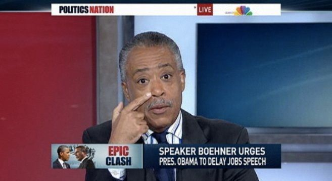 Al Sharpton Incensed About Obama Jobs Speech Moving (VIDEO