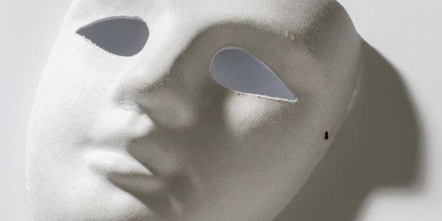 white cardboard mask undecorated