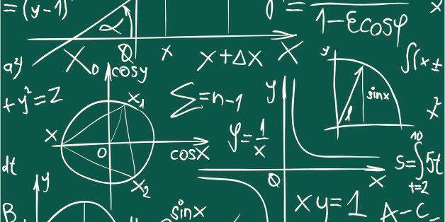 Vector Seamless Illustration of Trigonometry Pattern Background
