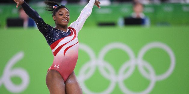 U.S. gymnast Simone Biles competes in the floor exercise on Tuesday, Aug. 9, 2016, at the Rio Olympic Games in Rio De Janeiro
