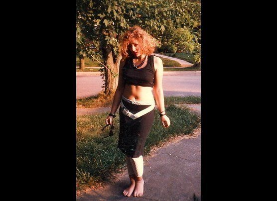 "Heather Levin Greiner's nickname was ""Madonna"" back when this pic was taken outside Baltimore, MD.