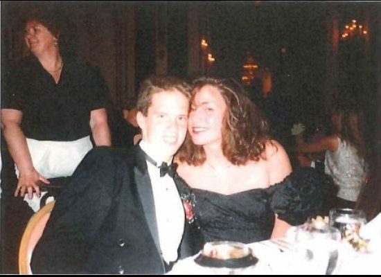This shot was taken at the 1989 Newton South High School Prom at the Copley Plaza Hotel in Boston. My date, Jamie Becker, is