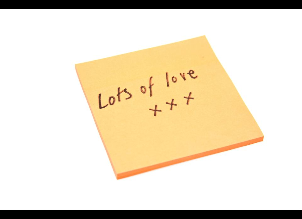 Try this: Leave a love note on your partner's pillow or stuck in their purse, briefcase or the book they're reading. Bring ho