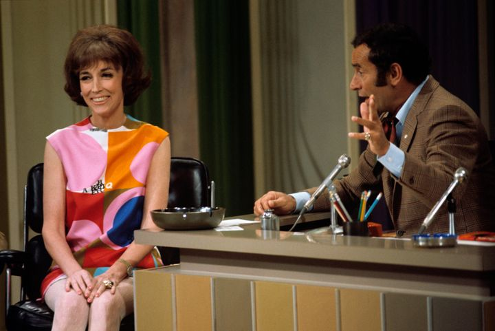 UNITED STATES - JUNE 15:  THE JOEY BISHOP SHOW - (1969) Helen Gurley Brown, Joey Bishop  (Photo by ABC Photo Archives/ABC via