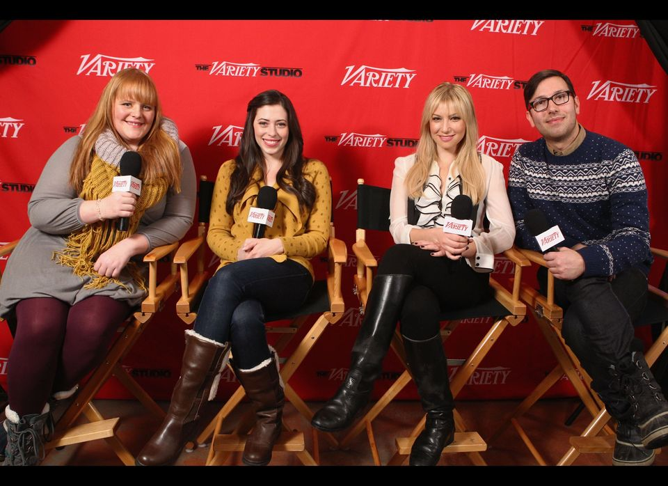 Writer Katie Anne Naylon, writer and actress Lauren Miller, actress Ari Graynor and director Jamie Travis attend Day 2 of the