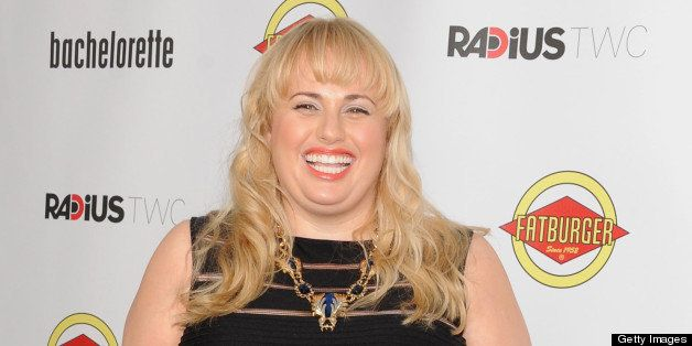 LOS ANGELES, CA - AUGUST 23:  Actress Rebel Wilson arrives for the Los Angeles premiere of 'Bachelorette' on August 23, 2012