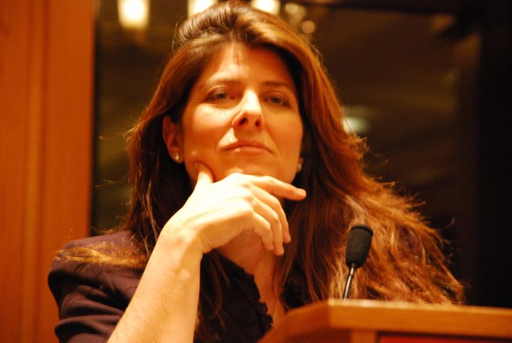 Description 1 Author Naomi Wolf speaking at an event hosted by the NYC chapter of the National Lawyers Guild.  The talk was h