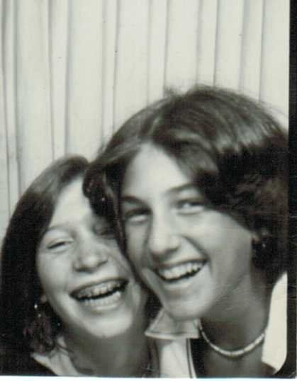 The two of us in middle school at one of those photo booths.