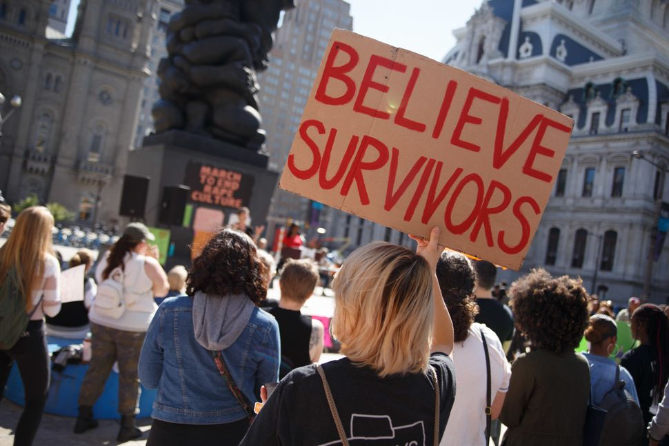 Protesters at theMarch to End Rape Culture