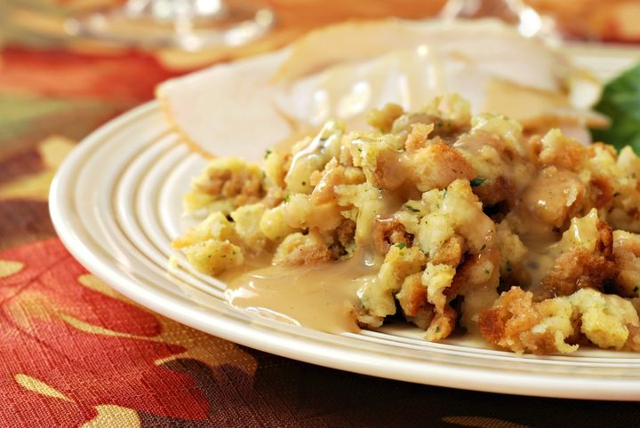 homemade stuffing with gravy...