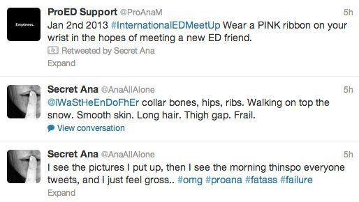 Pro-Anorexia On Twitter: Site Allows 'Thinspiration