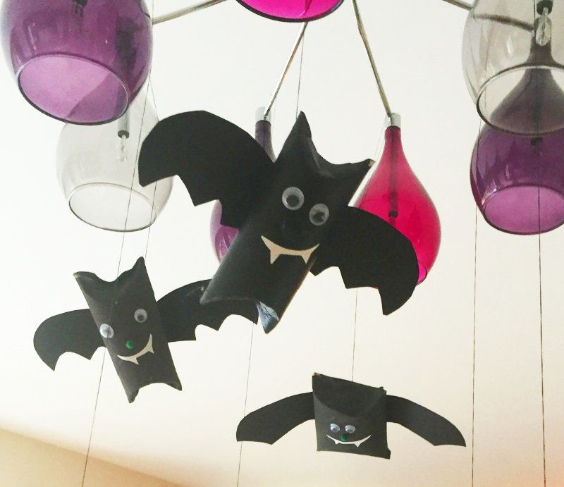 How To Make Flying Bat Decorations For