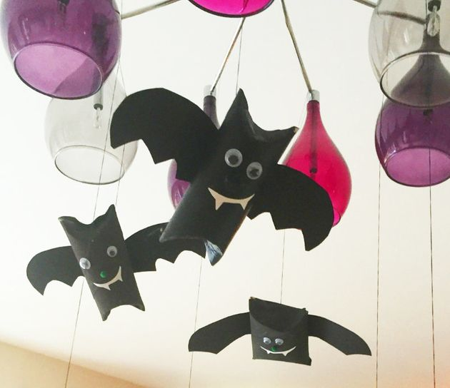 Craft For Kids How To Make Flying Bat Decorations