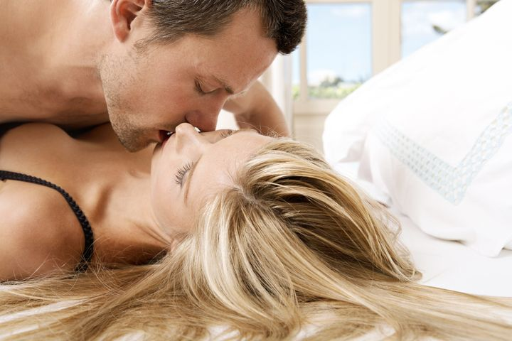 young couple passionately...
