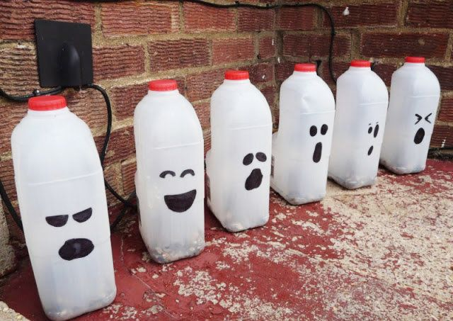 Halloween Craft For Kids: How To Make Milk Bottle Ghosts