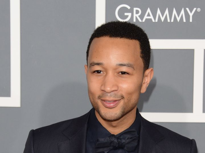 LOS ANGELES, CA - FEBRUARY 10:  Musician John Legend arrives at the 55th Annual GRAMMY Awards at Staples Center on February 1