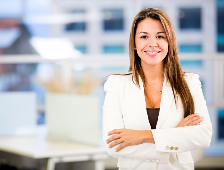confident business woman at the ...