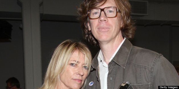 NEW YORK - SEPTEMBER 14:  Sonic Youth members Kim Gordon and Thurston Moore attend the Rodarte Spring 2011 fashion show durin