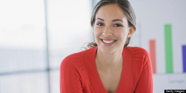 Portrait of businesswoman, smiling