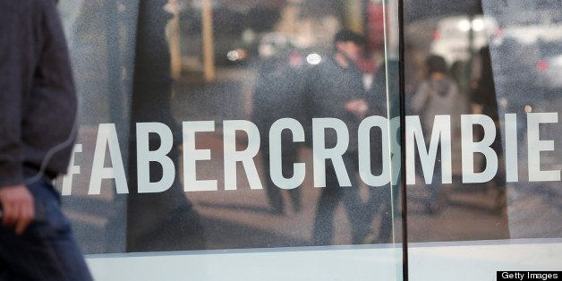 SAN FRANCISCO, CA - FEBRUARY 22:  A man walks past an Abercrombie and Fitch store on February 22, 2013 in San Francisco, Cali