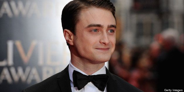 LONDON, ENGLAND - APRIL 28:  Daniel Radcliffe attends The Laurence Olivier Awards at the Royal Opera House on April 28, 2013