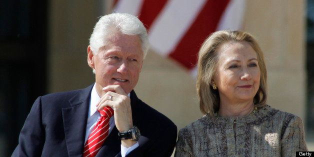 Former president Bill Clinton and Hillary Clinton attend dedication ceremonies for the new George W. Bush Presidential Center