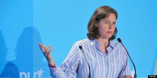 MUNICH, GERMANY - JUNE 30:  Megan Smith of Google speaks during the Digital Life Design women conference (DLDwomen) at Bavari