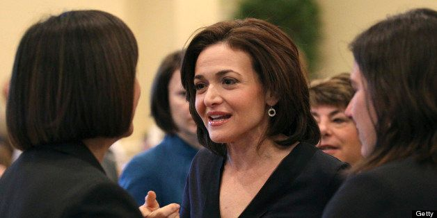 BOSTON - APRIL 4: Sheryl Sandberg, Facebook COO and author of the new book 'Lean In' at the Commonwealth Institute's luncheon