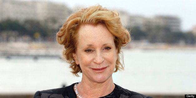 British author Philippa Gregory poses during the photocall of the TV show 'The White Queen'  on April 8, 2013 in Cannes, sout