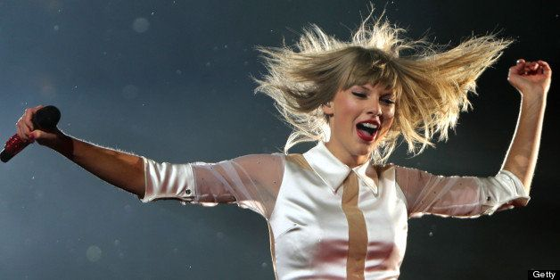FOXBOROUGH, MA - JULY 26: Taylor Swift in concert at Gillette Stadium. (Photo by Barry Chin/The Boston Globe via Getty Images