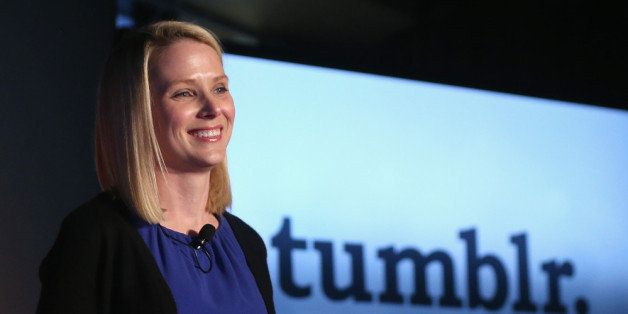NEW YORK, NY - MAY 20:  Yahoo! CEO Marissa Mayer speaks about the company's acquisition of Tumblr at a press conference in Ti