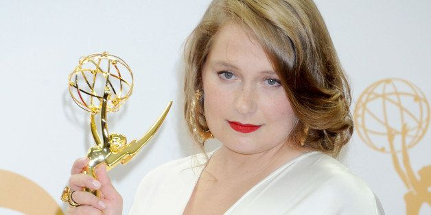 LOS ANGELES, CA - SEPTEMBER 22: Actress Merritt Wever poses in the press room at the 65th Annual Primetime Emmy Awards at Nokia Theatre L.A. Live on September 22, 2013 in Los Angeles, California. (Photo by Gregg DeGuire/WireImage)