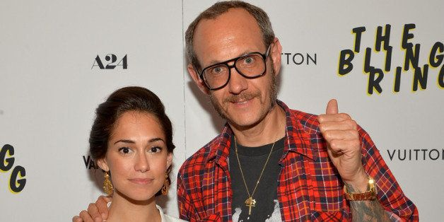 NEW YORK, NY - JUNE 11:  Audrey Gelman and photographer Terry Richardson attend 'The Bling Ring' screening at Paris Theatre o