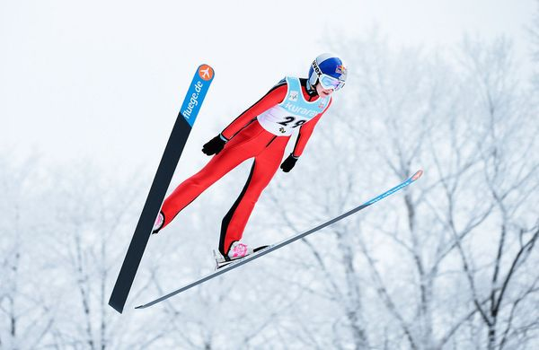 Ski jumping will be offered for women for the first time ever at the 2014 Winter Olympic Games. Winners scores are given base