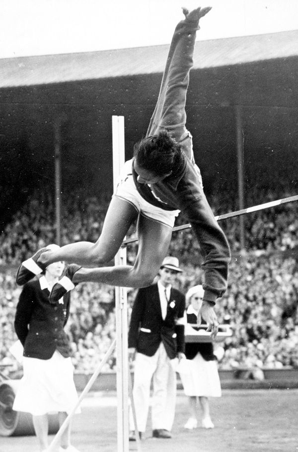"""Coachman, a high jumper who grew up in the segregated South, was the first African-American woman to win an <a href=""""http://w"""