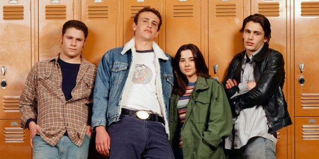 FREAKS AND GEEKS -- Season 1 Gallery -- Pictured: (l-r) Seth Rogen as Ken Miller, Jason Segel as Nick Andopolis, Linda Cardel