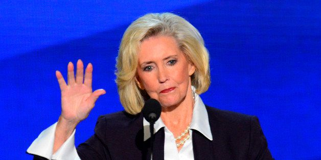 Lilly Ledbetter, namesake of the Lilly Ledbetter Fair Pay Act speaks at the 2012 Democratic National Convention at the Time W