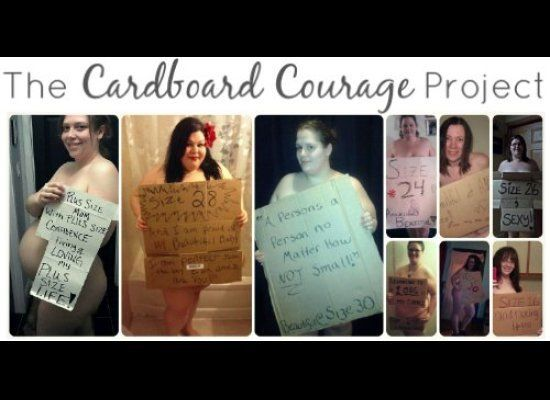 Cardboard Courage from Plus Size Birth