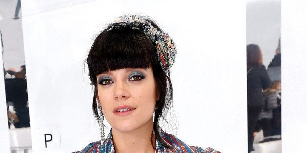 PARIS, FRANCE - JANUARY 21:  Singer Lily Allen  attends the Chanel show as part of Paris Fashion Week Haute Couture Spring/Su